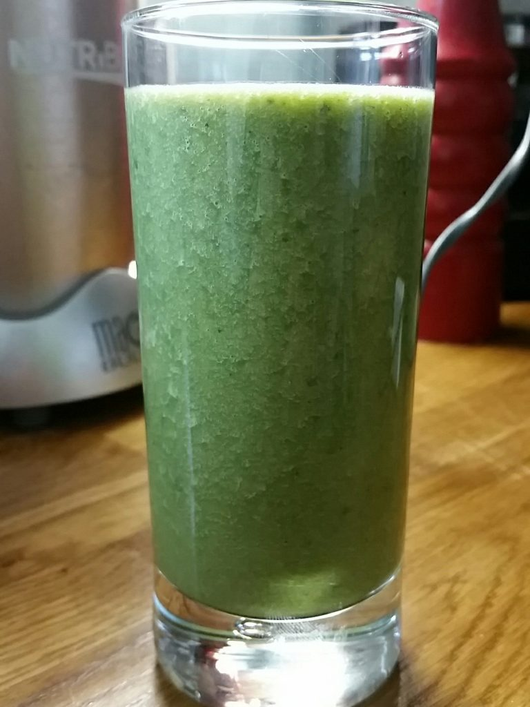 Freelance journalist Alice Whitehead makes healthy smoothies from her allotment vegetables